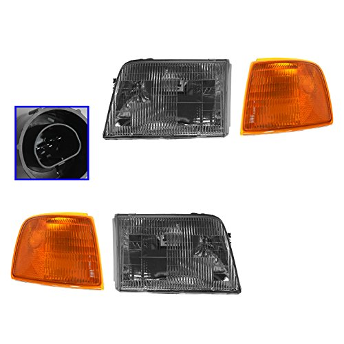Headlight Headlamp Corner Parking Lights Left Right Set Kit for 93-97 Ranger