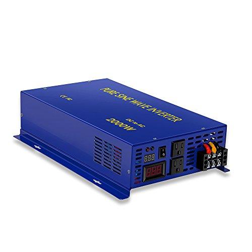 2000w 12v to 120v Pure Sine Wave Solar Power Inverter for Home Car Converter Generator