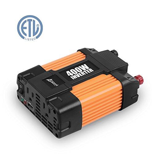 Ampeak 400W Power Inverter DC 12V to 110V AC Converter with 21A USB Car Charger