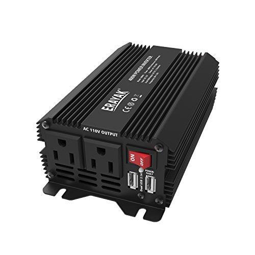 ERAYAK 400W Power Inverter DC12V to AC110V Car Adapter with 31A Dual USB Charging Ports 8094U