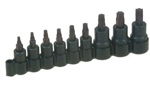 Lisle 37600 10 Piece Super Torx Bit Socket Set  T-10-T-50