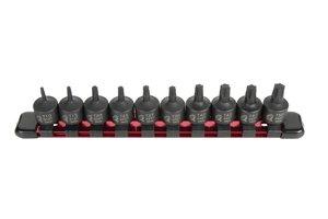 Sunex 3643 38-Inch Drive Stubby Impact Star Bit Socket Set 10-Piece