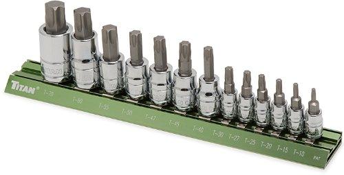 Titan Tools 16122 Star Bit Socket Set - 13 Piece