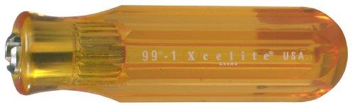 Xcelite 991 Screwdriver Handle For Interchangeable Blade Amber 1316 Diameter 4 Handle Length