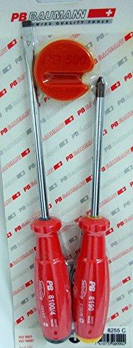 PB Swiss PB-8255C Pro 3 Pcs Screwdriver Set Slotted Pozidriv Magnetizer