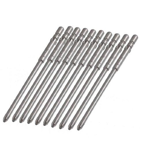 uxcell 10 Pcs 4mm Shank 80mm Length 3mm Phillips PH1 Magnetic Screwdriver Bits