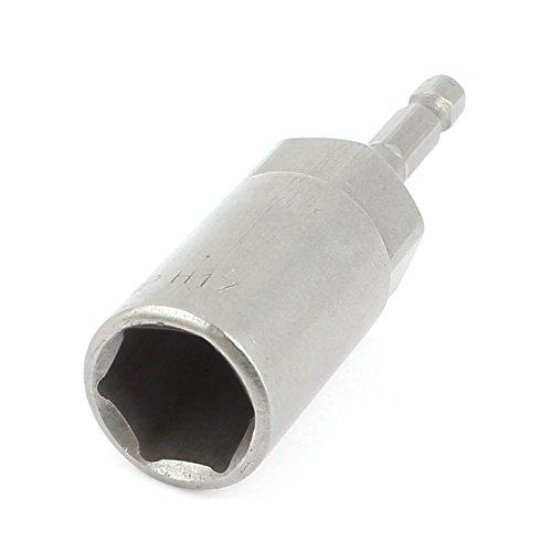 Uxcell a14110300ux0265 Gray Metal Screwdriver Drill 100mm x 17mm Hex Nut Driver Socket Bit