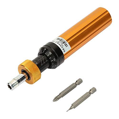 Fishlor Torque Screwdriver Alloy Steel Torque Screwdriver Preset Type 1-6Nm Adjustable Torque Screwdriver Handheld Maintenance Tool