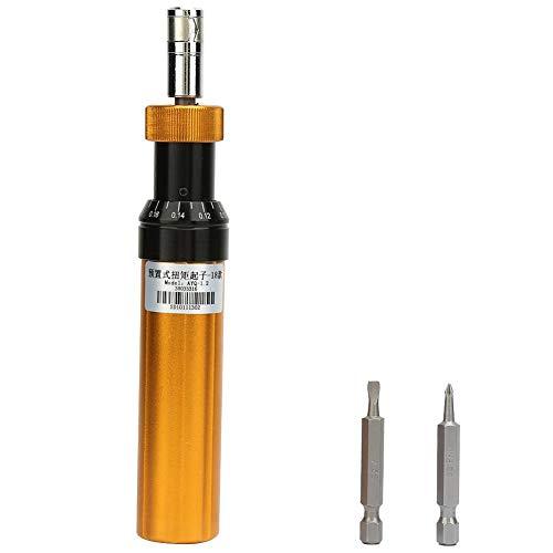 Preset Torque Screwdriver,Alloy Steel Preset Type 02-12Nm Adjustable Torque Screwdriver Handheld Maintenance Tool