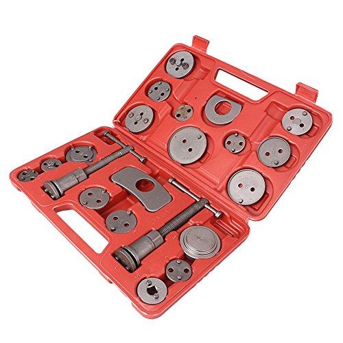 Timmart 21pcs Disc Brake Caliper Wind Back Tool Kit Universal Auto Car Truck Piston Pad Mechanics Tool Sets