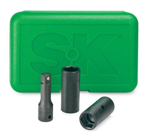 SK Hand Tools 4043 3-Piece 12-Inch Drive Impact Wheel Flip Socket Set