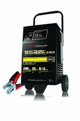 Schumacher SE-2352-CA 12V 200 Amp Automatic Wheel Battery Charger with Engine Start