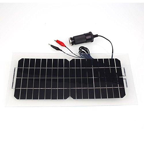 Forfar 18V 55W Portable Flexible Smart Monocrystalline solar panel Solar Power Panel Car RV Boat Battery Bank with Al