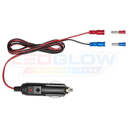 LEDGlow 12 Volt Cigarette Lighter Power Adapter - Quick Connect Crimp Connectors - Easy To Plug In