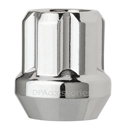 DPAccessories LOS2B3HC-CH04001 One 1 Chrome 916-18 Open End Duplex Spline Lug Nut for Aftermarket Wheels Wheel Lug Nut
