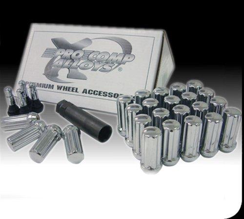 Pro Comp Wheels 26194B Lug Nut Kit Incl Lug BoltsTool Size 916 in Bolt Pattern 5 Lug Black Lug Nut Kit