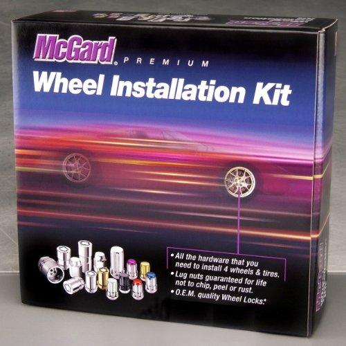 McGard 84554 Chrome Cone Seat Wheel Installation Kit M12 x 125 Thread Size - For 5 Lug Wheels