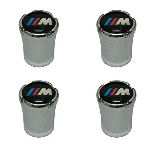 Modern Design 4pcs M Power Logo Chrome Auto Car Wheel Tire Air Valve Caps Tire Decoration For BMW Car Model