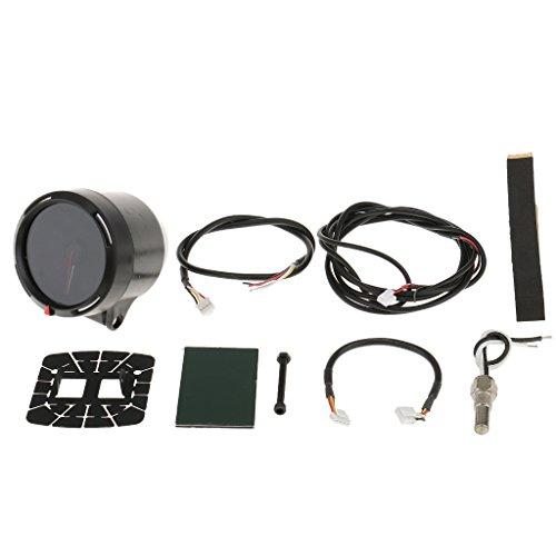 MonkeyJack Durable 236inch 60mm Diameter 7 Color LED Car Oil Temperature Gauge Instrument