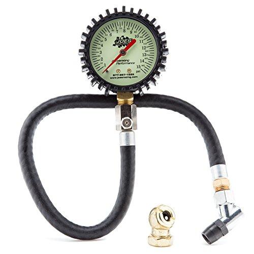 Joes Racing 32305 0-15 PSI Tire Pressure Gauge
