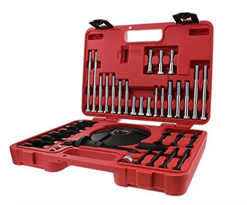 ABN Universal Harmonic Balancer Puller Installer 52-Piece Tool Kit – Master Balancer Pulley RemovalInstallation Set