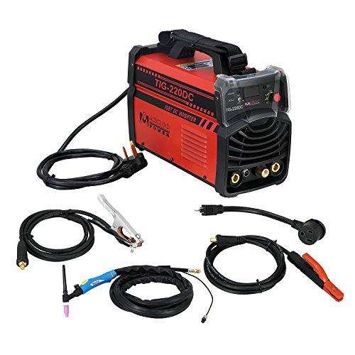 220 Amp TIG TorchArcStick DC Inverter Welder 230V110V Dual Voltage Input Welding New