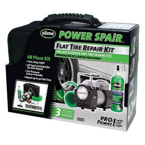 Slime 70004 Power Spair Tire Repair Kit 48-Piece Set
