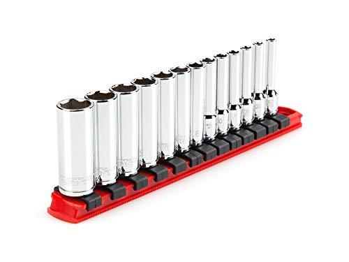 TEKTON 14 Inch Drive Deep 6-Point Socket Set 13-Piece 4 - 14 mm  SHD90106