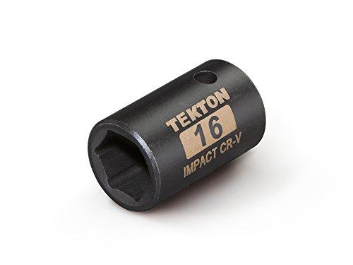 TEKTON 47771 12-Inch Drive by 16 mm Shallow Impact Socket Cr-V 6-Point
