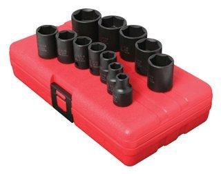38 Inch Dr Standard Impact Socket Set 12 Pc Sae -2Pack