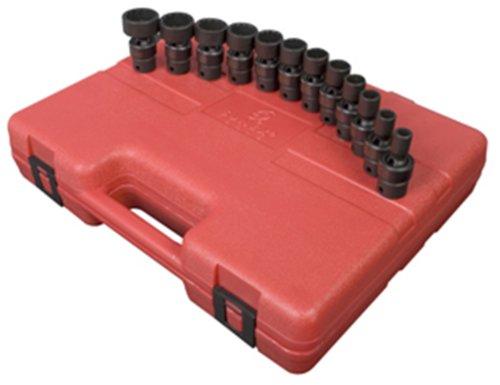 Sunex 3690 38-Inch Drive SAE Universal Impact Socket Set Standard 12-Point Cr-Mo 516-Inch - 1-Inch 12-Piece