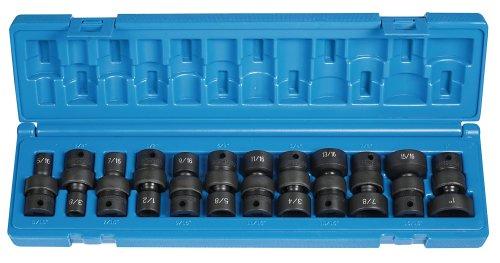 Grey Pneumatic 1212U 38 Drive 12-Piece 6-Point Socket Set
