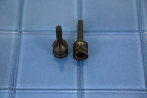 TEMO IP-50 3 Long Black Impact Torx Plus 6 point Socket Bit 12 inch Square Drive Auto Repair Tool