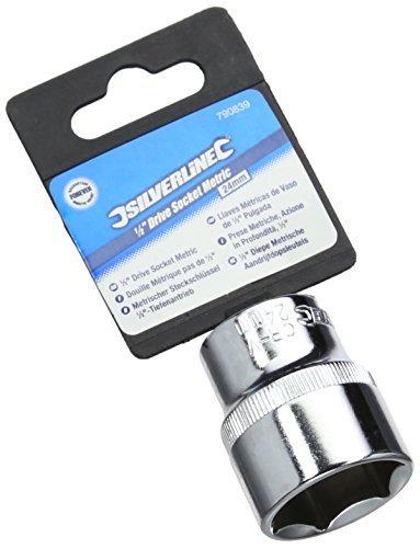 Silverline 790839 24 mm 12-inch Drive Metric Hex Socket by Silverline