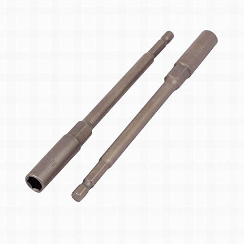 MariaP 150mm Long 8mm Hex Socket Magnetic Nut Driver Set Adapter Drill Bit 2pcs