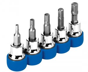 Set of 5 Performance Tool 38 Drive Metric Hex Bits 3-7 mm W3112 2 Pack
