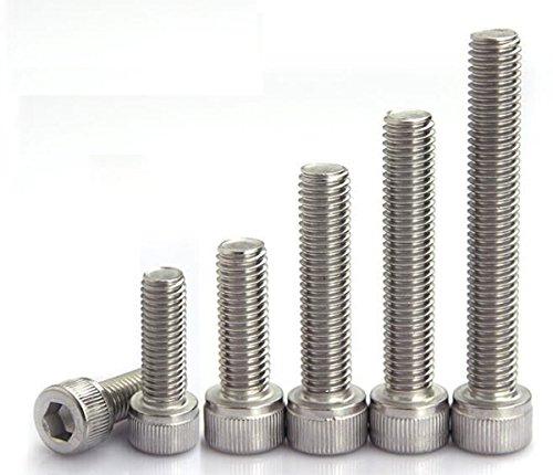 96Pcs 304 Stainless Steel 4-40 to 14-20 Allen Hex Socket Head Cap Screws Bolts Assortment Kit