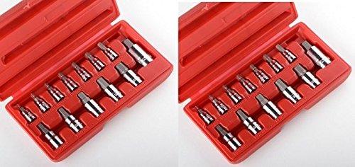 GHP 26pc METIRC SAE Allen Hex Socket Bit Set Wrench Ratchet 14 38 12 MM