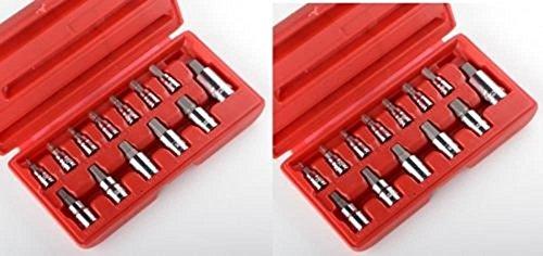 Socket Wrenches 26pc METIRC SAE Allen Hex Socket Bit Set Wrench Ratchet 14 38 12 MM NEW