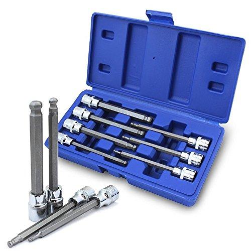 Generic O-8-O-1387-O Wrench Sockets Wrench Socket SAE Hex Allen Bit x Allen 7PC 38 Ball End ndard S Tool Case Long 4 Long 425 Standard HX-US5-16Mar28-231