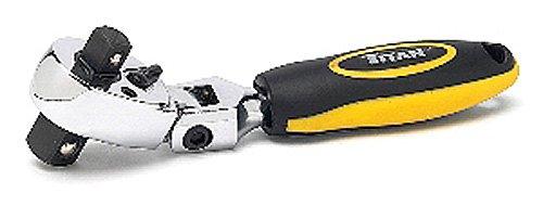 Titan Tools 12351 38 and 12-Inch Drive Flex Head Stubby Ratchet Dual Head