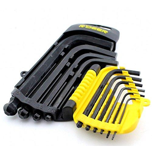 9 In 1 Short handle Hex Key Ball End Set Allen Keys 15-10MM Wrench Spanner Cr-V Tool