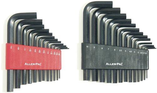 Allen-Pal 15277 - 25 Piece Inch and Metric Short Arm Hex Key Set