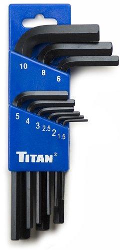Titan 12729 Metric Short Arm Hex Key Set - 9 Piece