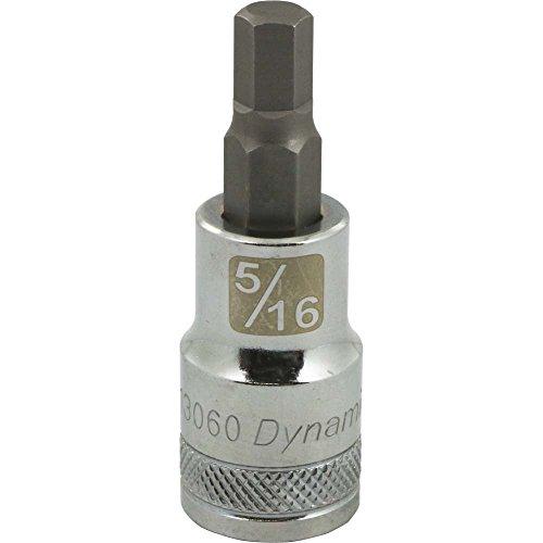 Dynamic Tools D013060 12 Drive SAE Hex Head Socket with 516 Bit Chrome Finish