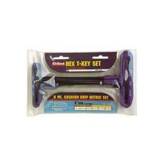 Eklind Tool Company EKL55198 8 Piece 9in Cushion Grip Metric T-Handle Hex Key Set 2-10mm