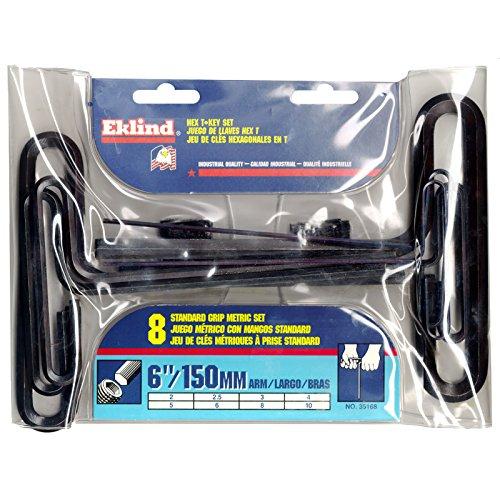 Eklind Tool Company 35168 8 Piece 6 Metric T-Handle Hex Key Set