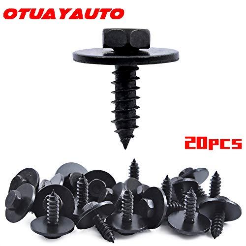 OTUAYAUTO M48-161 x 16mm Hex Head Screw Bumper Cover for Engine Shields Splash Guard - BMW E90 E83 E82 E71 E70 E66 E63 E60 E46 - Replace OEM 07147129160 07-14-7-129-160 20Pcs