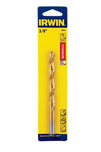 Irwin 63924 38 Titanium Nitride Coated Straight Shank Drill Bit