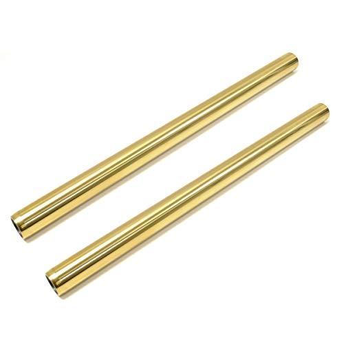 Kawasaki H1 H2 Premium Gold Fork Tube Set Titanium Nitride Stock Length by Niche Cycle Supply